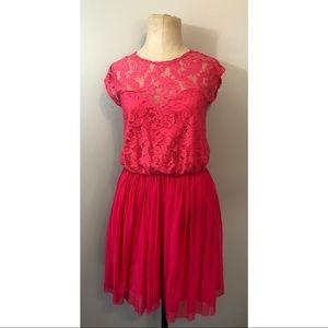 NWT ASOS lace Pink short sleeve dress